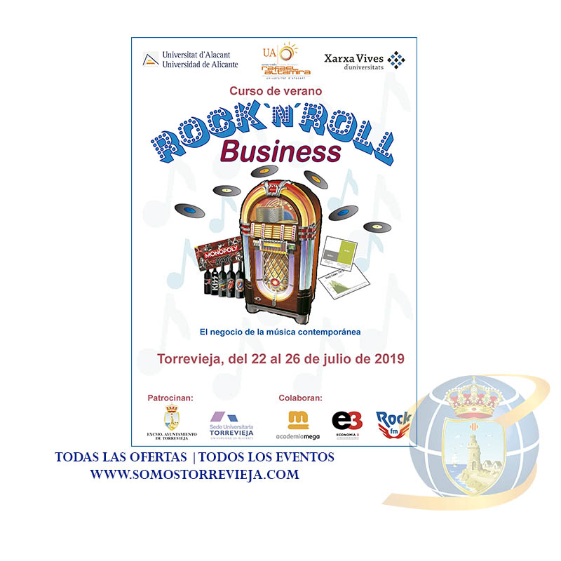 LA SEDE UNIVERSITARIA DE TORREVIEJA PRESENTA EL CURSO DE VERANO ROCK AND ROLL BUSINESS: EL NEGOCIO DE LA MÚSICA CONTEMPORÁNEA