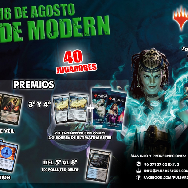 Torneo de Modern. Magic The Gathering